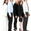 Business group in a row — Stock Photo #7769510