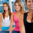 Stock Photo: Women in pilates class