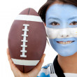 Argentinean rugby fan - Stock Photo