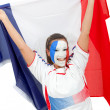 Stock Photo: Patriotic French woman