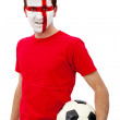 English football fan - Stock Photo
