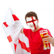 Patriotic English man - Stock Photo