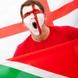 English football fan — Stock Photo #7769612