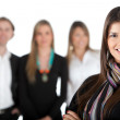 Woman leading a team — Stock Photo