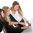 Foto Stock: Business women with laptop