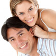 Lovely couple smiling - Stock Photo