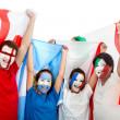 Patriotic group of — Stock Photo