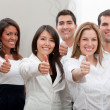 Royalty-Free Stock Photo: Business group with thumbs up