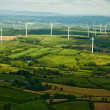 Landscape with windmills — Stockfoto