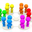 Groups networking — Stock Photo
