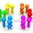 Groups networking — Stock Photo #7769995