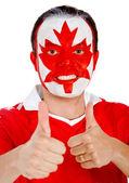 Kanadischer mann mit daumen nach oben — Stockfoto