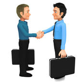 3D Business handshake — Stock Photo