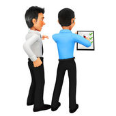 3D business men - puzzle assembling — Stock Photo