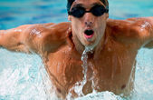 Man swimming — Stockfoto