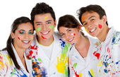 Group of painters — Stock Photo