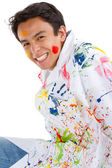 Happy male painter — Stock Photo