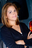 Woman with a car — Stock Photo