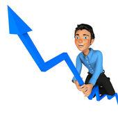 3d gå för framgång — Stockfoto