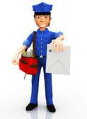 3D mailman — Stock Photo