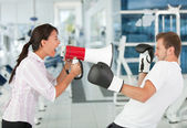 Tough female trainer — Stock Photo