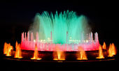 Magic fountain of Barcelona — Stock Photo