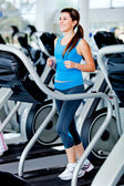 Woman running at the gym — Stock Photo