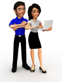 3D Business couple — Stock Photo