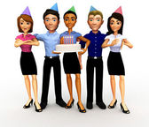 3D birthday celebration — Stock Photo