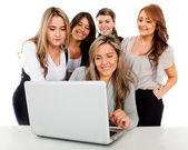 Online business women — Stock Photo