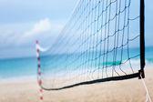 Beach volleyball net — Stock Photo