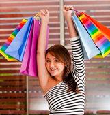 Female shopping — Stock Photo