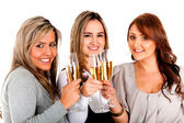 Business women celebrating — Stock Photo