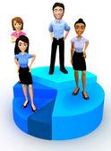 3D business pie chart — Stock Photo