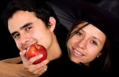 Pomme de la tentation - couple — Photo