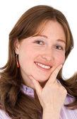 信心十足的商业女人微笑 — 图库照片