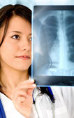 Female doctor - xray — Stock Photo