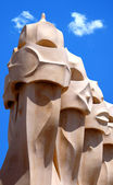 Gaudhi sculptures in barcelona — Stock Photo