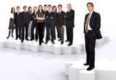 Trabajo en equipo y liderazgo empresarial — Foto de Stock