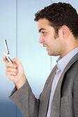 在电话上商务男人 — 图库照片
