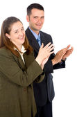 Business partners applauding — Stock Photo