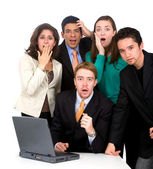 Business team worries — Stock Photo