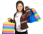 Girl with shopping bags — ストック写真