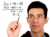 Mathematics student — Stock Photo