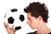 サッカーを持つ男 — ストック写真