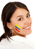 Colombian woman smiling — Stock Photo
