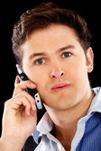 Casual man on the phone — Stock Photo
