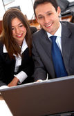 Business on a laptop — Stock Photo
