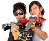 Male guitarists — Stock Photo