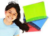 Estudiante con los portátiles — Foto de Stock